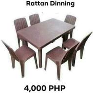 Rattan Dining Set  Table