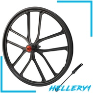 [HELLERY1]Solid 20\'\' Folding Bike Wheelset 1.5~2.125 Disc Brake Wheel 6 Hole Hub