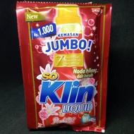 [XJ59081] So Klin detergen cair liquid parfume Collection RENCENG isi 6 Sachet / SOKLIN /So Klin Liq