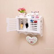 家居墻上置物架免打孔客廳掛鉤裝飾架玄關壁掛鑰匙收納盒整理箱