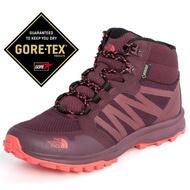 【美國 The North Face】女新款 Gore-Tex防水透氣耐磨中筒輕量登山鞋/UltrATAC橡膠外底/3FX3 棕色/粉 N