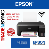EPSON ECOTANK L1250   WI-FI Colour Printer   Print only   MICROPIEZO HEAT FREE   Print up to 4R Borderless   2yr carry-in warranty   1 set of ink incl inside box