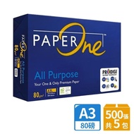【PAPER ONE】All Purpose 多功能影印紙A3 80G 5包/箱