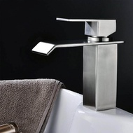 304 stainless steel basin faucet waterfall wash basin hot and cold water faucet
