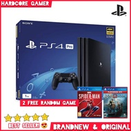 PS4 PRO 1TB Console PlayStation 4 Pro MegaPack Bundle (Asian) with 1X DualShock 4 Black 2 Free Game