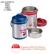 BUBEE Vacuum Thermal Pot with SS Entrée Tray 2 litres