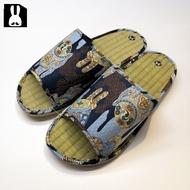 台灣製 透氣舒適室內草蓆拖鞋-太鼓藍28cm