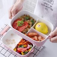 日式分隔陶瓷飯盒 創意便當盒 可微波爐密封碗