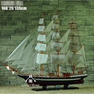 (台中 可愛小舖)歐式海洋風木製大帆船造型主題館營業場所櫃檯餐廳小館服飾店櫃檯民宿花園庭院裝飾吊飾