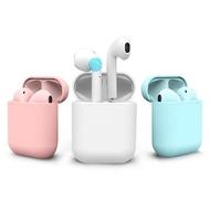 i12-Color 觸控雙耳無線磁吸藍牙耳機 無線充電盒 馬卡龍色