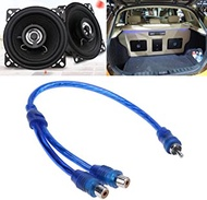 YSHA 27cm 2 RCA Female To 1 RCA Male Splitter Cable For Car Audio System (Color : As shown, Size : 1 female and 2 male)