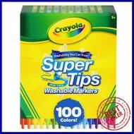 สีเมจิกซุปเปอร์ทิปส์ ล้างออกได้ CRAYOLA 100 สีWASHABLE SUPER TIPS MARKERS CRAYOLA 100 COLORS