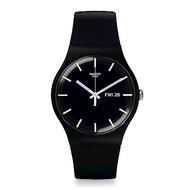 Swatch 原創系列 MONO BLACK單-黑手錶/41mm