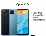 Oppo a15s ram 4/64 gb garansi resmi & Oppo A15 ram 3/32 gb triple camera