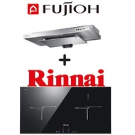 FUJIOH SLM900R SLIMLINE HOOD + RINNAI RB-7012H-CB 2 ZONE INDUCTION HOB