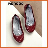 Best Quality MONOBO รองเท้าสวมส้นแบน สำหรับผู้หญิง รองเท้าคัชชู Jelly Flats