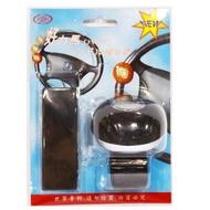 【Feemo】好力馬 方向盤輔助器  (內附軸承) 黑合成皮/原木/賽璐璐琥珀紋