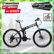 "MONTBIKE SPORTBIKE [SP328] 26"" Wheels Mountain Bike With 21 Speeds Folding Bicycle Road MTB Bicycle Basikal Lipat Basikal Gunung Dewasa Bicycle for Adult"