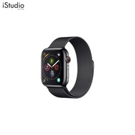 AppleWatch Series4 GPS+Cellular, 44mm Space Black Stainless Steel Case with Space Black Milanese Loop [iStudio by UFicon]