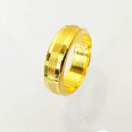 แหวนทองคำแท้ 96.5% น้ำหนัก 1สลึง ( 3.8 กรัม ) ไซส์ 63 แหวนเรียบ เกลี้ยง แหวนปลอกมีดขอบเงา ลงทราย โปร่ง GR965-3.8-2
