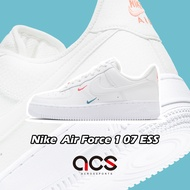 Nike 休閒鞋 Air Force 1 07 ESS 白 女鞋 小勾 彩色立體小勾 AF1 韓星 泫雅 【ACS】