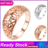 JZ_Fashion Women Hollow Flower Band Handmade Finger Ring Engagement Jewelry Deor