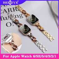 Cowboy Chain Strap For Apple watch 5 4 band 40MM 44mm stainless steel link bracelet for apple watch series 3 2 1 38mm 42mm Fashion Metal Link Womens Ladies Watch Bracelet