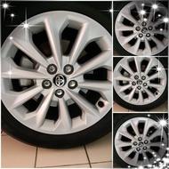 預售12代ALTIS汽油尊爵11/30交車當天拆下的輪胎+輪框(鋁圈)