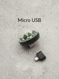 1入組微型USB LED 迪斯科燈