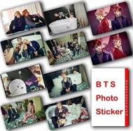 10Pcs/Set KPOP BTS Bangtan Boys Album WINGS Photocard Crystal Card Sticker- Waterproof