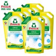 【Frosch德國小綠蛙】衣物清潔類淨白檸檬洗衣精補充包1800ml*5包/箱