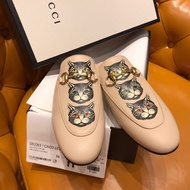 Gucci Princetown系列Mystic Cat印花拖鞋 神秘貓 俏皮又可愛穆勒拖鞋