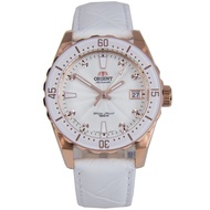 Orient Automatic White Leather Analog 100m Womens Watch FAC0A003W0 AC0A003W