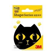 3M 利貼 狠黏造型便條紙 便利貼-黑色 貓頭鷹 企鵝 貓咪造型