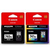 《CANON》PG-740XL+CL-741XL 原廠高容量墨水匣組合(1黑+1彩)
