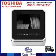 TOSHIBA DWS-22ASG 5L MINI TABLETOP DISHWASHER,1 YEARS WARRANTY