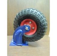 *中崙五金*專業 10吋 PU輪 風輪 手推車輪 獨輪車輪 (活動式 附座)雙軸承設計