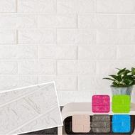 旺寶 仿文化石壁磚牆 石頭強 石紋 3D立體磚紋壁貼 6入組
