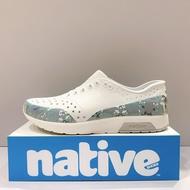 Native BLOCK LENNOX 雷諾系列 男生 白色迷彩 防水 洞洞鞋 懶人鞋 水手鞋 沙灘鞋 休閒鞋