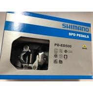 『時尚單車』shimano PD-ED500 SPD 附SH56 深灰色 公路車旅行 踏板 卡踏