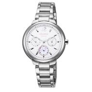 【LICORNE】力抗 永恆時光真鑽系列 凡爾賽名媛手錶(銀/白/粉 LT127LWWI-P)