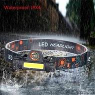 Treasure Land - 迷你COB LED頭燈電筒USB可充電內置18650手電筒露營遠足夜釣燈 Head Light