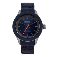Superdry SYG211US Analog Quartz Blue Silicone Mens Watch