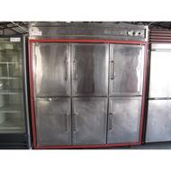 **福康冷凍餐飲設備**中古營業用六門白鐵管冷上冷凍下冷藏冰箱
