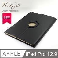 【福利品】Apple iPad Pro 12.9 (2017年版)專用360度調整型站立式保護皮套(黑色)