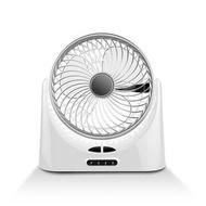 Home USB Charging 3 Turbo Blades Air Circulation Night Light 120 Degree Rotation Adjustable Table Fan