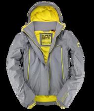 Superdry 極度乾燥 女款 新版 雙拉鍊 防風夾克連帽外套-砂礫灰