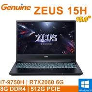 """捷元 ZEUS 15H-i79085P20606H 15.6""""(I7-9750H/8G/512G SSD/RTX2060"""