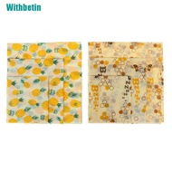 【Withbetin】Food Wrap Beeswax Reusable Sustainable Plastic Free Beeswax Food Storage Wrap