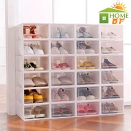 กล่องใส่รองเท้า ฝาหน้าเปิด-ปิดพลาสติกแบบหนา กล่องรองเท้า กล่องเอนกประสงค์ แข็งแรง วางซ้อนต่อได้หลายชั้น ป้องกันน้ำ ฝุ่น แมลง ชั้นวางรองเท้า ตู้เก็บรองเท้า กล่องพลาสติก กล่องใส่ของ กล่องใสรองเท้า กล่องใส่รองเท้าพลาสติก รุ่นฝาแข็ง